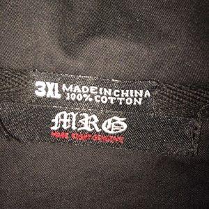 MRG Shirts - MRG Black Short Sleeve top for men.